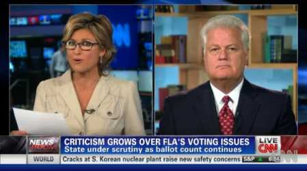 An image of Florida Secretary of State Ken Detzner on CNN